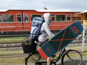 Zum Kitestrand mit dem Fahrrad auf Langeoog