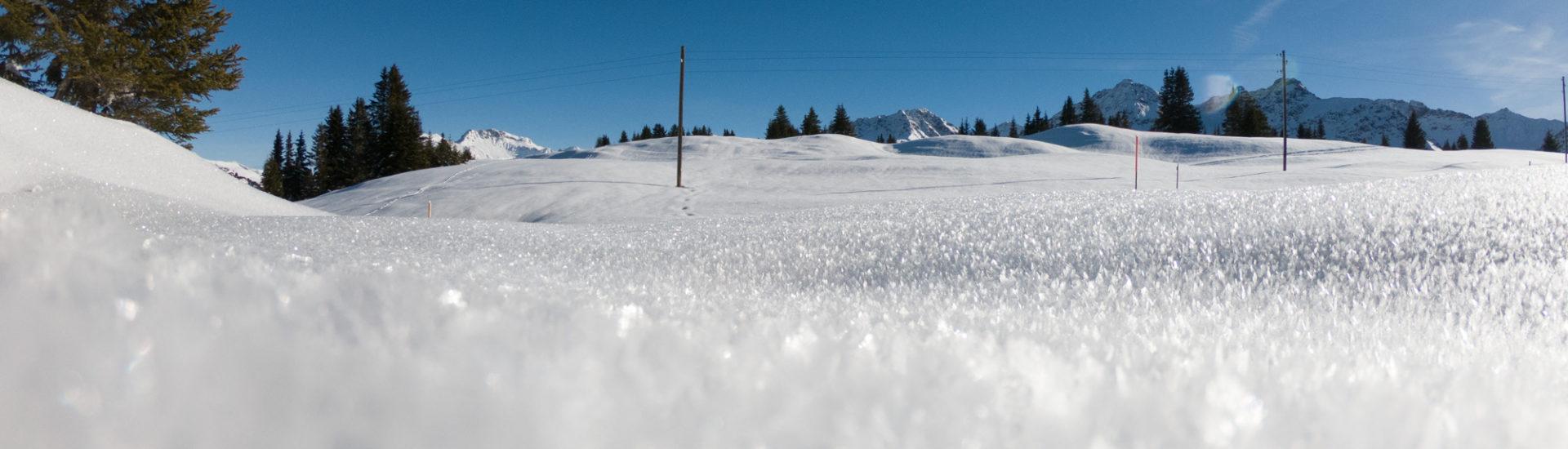 Unberührter Schnee nahe Arosa